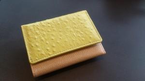 お試し極小財布 黄色