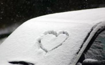 雪 ハート 車