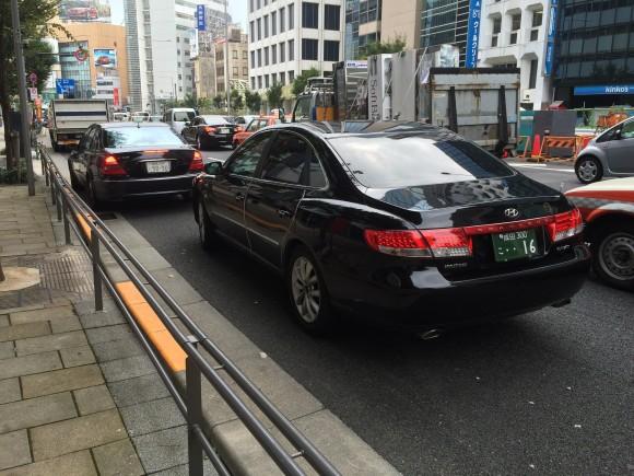 uber ハイヤー 青山通り